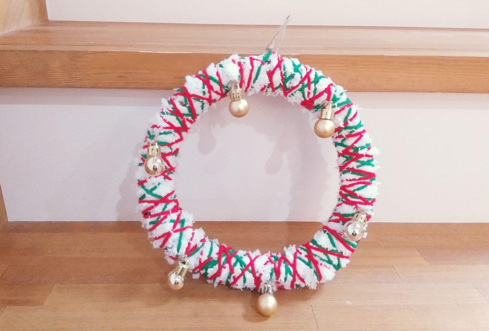 《100均で簡単DIY》クリスマスリースを作ろう♫